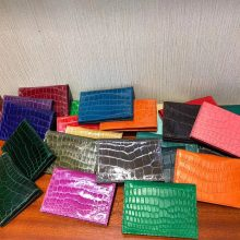 Sale Hermes Shiny Crocodile New Wallet Card Bag in Multi-color