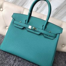 Stock Hermes U1 Vert Verone Togo Calf Birkin Bag30CM Gold Hardware