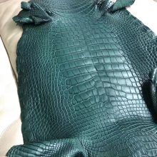 New Arrival Hermes 1L Vert Cacti Alligator Matt Crocodile Leather Minikelly Bag Customize