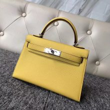 Wholesale Hermes 9O Jaune De Naples Epsom Calf Minikelly-2 Handbag20cm