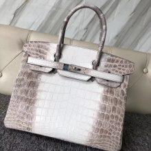 Wholesale Hermes Crocodile Leather Himalaya Birkin30CM Women's Bag Silver Hardware