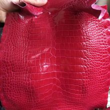 Pretty Hermes I6 Rose Extreme Shiny Crocodile Leather Kelly/Birkin Bags Customize