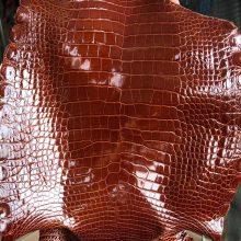 Customize Hermes Minikelly/Constance Bag CK31 Miel Shiny CrocodileLeather