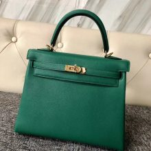 Customize Hermes U4 Vert Verigo Everycolor Kelly25cm Bag Gold Hardware