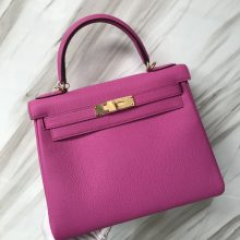 Stock Hermes 9I Rose Magnolia Togo Calf Kelly28CM Bag Gold Hardware