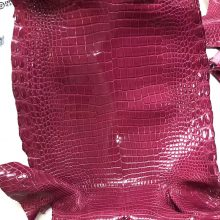 Pretty Hermes Hot Pink Porosus Shiny Crocodile Leather Can Order Kelly/Birkin Bags