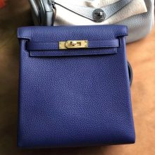Customize Hermes M3 Blue Encre Kelly Ado Backpack Shoulder Bag22cm