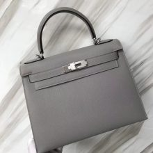 Stock Hermes Epsom Kelly Bag28CM in 8U Blue Glacier Gold/Silver Hardware