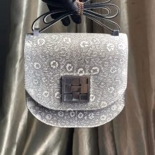 Fashion Hermes Original Color Lizard Mosaique Bag17CM Silver Hardware