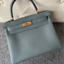 New Arrival Hermes CC63 Vert Amande Togo Calf Kelly28cm Bag Gold Hardware