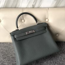 New Hermes CC63 Vert Amande Togo Calf Kelly Bag28CM Silver Hardware