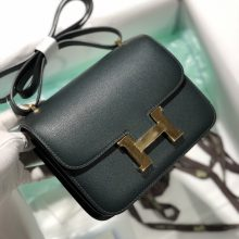 Customize Hermes 2Q Vert Tipien Evercolor Constance Bag18cm Gold Hardware