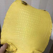 Customize Hermes Bags New Arrival M9 Yellow MattCrocodileLeather